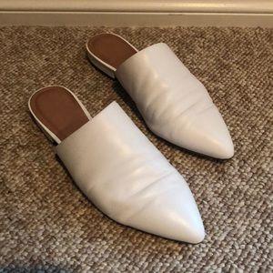 White Halogen Mules